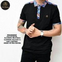 Polo Shirt Batik BOOGIE Man in black