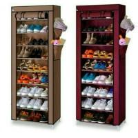 Rak Sepatu 10th 10 Susun / Shoes Rack With Cover / Baju Buku Aksesoris