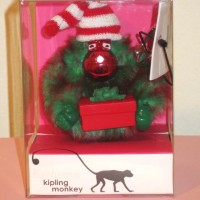 Kipling - Keychain - Christmas Red Monkey