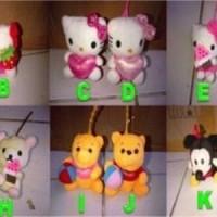 Jual Handgel Boneka Karakter 3D BBW Hello Kity Pooh Rilakuma Mickey Minnie  Murah