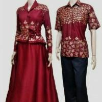 Jual Sarimbit Batik Solo. Couple Gamis Batik Prada Seruni Se Murah Murah