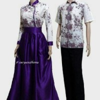 Jual Sarimbit Batik Solo. Couple Gamis Batik Aziza Series Diskon Murah