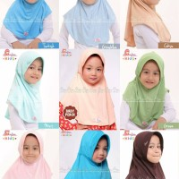Jual MiuLan Bergo Hijab Jilbab Kerudung Anak Praktis Adem Polos PLAIN LAURA Murah