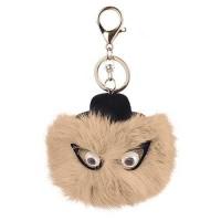 eyes fuzzy ball simple key ring - RBDBC5