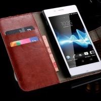 Jual Terbaru Wallet Case Leather Case Sony Xperia M2 Murah
