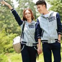 Couple Qing Grey - Navy Pakai Rib Bhn Babyterry Oscar fashion