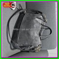 Jual Tas Selempang Kulit Shoulder Bag Wanita - Dark Gray Murah