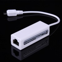 Kabel micro USB to RJ45 Ethernet LAN Adapter for Windows and Macbook