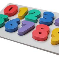 Jual Mainan Kayu Alat Peraga Edukatif - Puzzle Chunky Angka 0-9 Murah