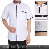 Jual Jual Baju Pria Modern   Kemeja Koko Lengan Pendek Slim Fit OM33 Harga  Murah
