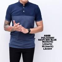 Jual Polo Shirt Pria | Baju Cowok Kaos Polo Shanghai Navy mix Blue Murah