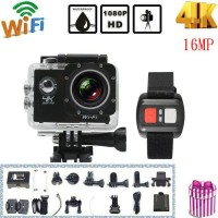 Ultra 4K HD 1080P 2inch Waterproof WiFi  Sports Camera with Remote