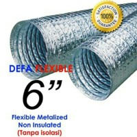 "Flexible Ducting Metalize 6"" Non Insulasi"