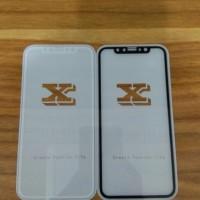 Jual Tempered Glass Iphone Anti Gores  Iphone  X Black/White Murah
