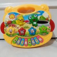 mainan musik bayi edukatif animal farm piano cartoon suara binatang