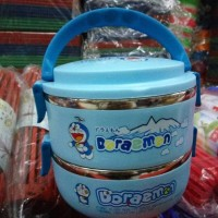 Jual LUNCH BOX / RANTANG HELLO KITTY DORAEMON SUSUN 2 Berkualitas Murah