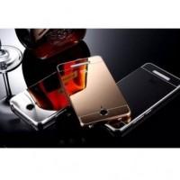Jual Aluminium Bumper with Mirror Back Cover for Xiaomi Redmi Note 2 Golden Murah