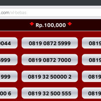 Jual nomor cantik xl kartu perdana bebas nocan gsm murah axiata axis xplor .