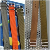 Tali jam tangan nylon/kanvas 3 ring