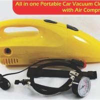 Jual 2 in 1 Tire Inflator Pump Air Compressor Portable Car Vacuum Cleaner Murah