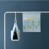 Jual Hanging bag organizer mini Tempat penyimpanan gantung perekat HPR046 Murah