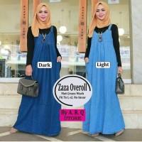 Jual zazha overoll overall jeans rok kodok wanita maxy dress Murah