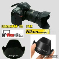 Baru LENS HOOD 52 MM FOR 18-55 NIKON Termurah