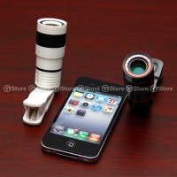 Jual Lensa Smartphone Tele Lens 8x With Clip / Jepit High Qu Limited Murah