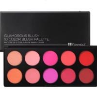 BH Cosmetics Glamorous Blush - 10 Color Blush Palette