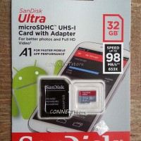SanDisk Ultra MicroSDHC 32GB A1 UHS-1 98MB/s Micro SD Card 32 GB