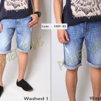 SSUP03- Celana jeans pendek sedengkul SUPERDRY bahan de Limited