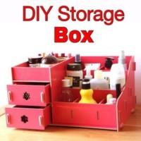[ besar ] RAK KOSMETIK KAYU BESAR ( diy make up storage box )