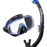 TUSA Mask + Snorkel Visio Tri-EX Adult Combo UC -3125QB MB Diving