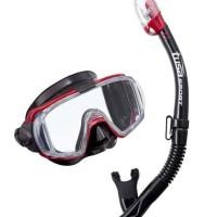 TUSA Mask + Snorkel Visio Tri-EX Adulut Combo UC-3125QB MDR Diving