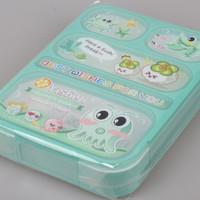 Jual 590 BARU 5SEKAT Lunch Box Kotak Makan Yooyee kotak bekal Anti Bocor Murah