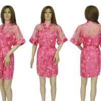 PROMO SPESIAL Baju Tidur Wanita Kimono Satin Transparan BTK 328