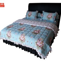SORAYA Bedsheet - Sprei Rimpel + Bed Cover Olivia by Magenta