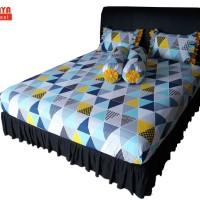 SORAYA Bedsheet - Sprei Karet Blue Trivia