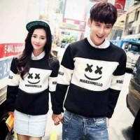 Jual HARGA TERMURAH Couple Marshmallow Black Pakaian Couple 0119a QHU Murah