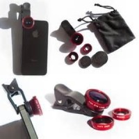 Jual BARU lensa jepit / cliplens camera 3in1 ( fish eye , wide , macro ) Murah