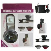 Jual NEW Lensa SUPERWIDE jepit universal clip 0.4X model U004 Murah