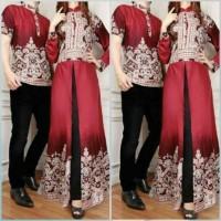 Jual couple azalea, busana muslim baju pasangan sarimbit batik terbaru Murah