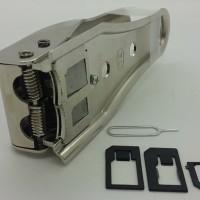 Jual laris DUAL sim card cutter / pemotong simcard 2 in 1 micro nano Murah