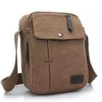 Jual Tas Slempang Import Kanvas Militer / Slempang Messenger Shoulder Bag Murah