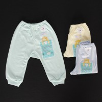 Jual LIBBY 3 Pcs Celana Panjang 0-3 / 3-6M POLOS Pampers Bayi/Baby Warna Murah