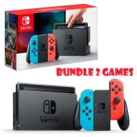 Jual Console Nintendo Switch Neon Blue Red Bundle 2 Games Murah