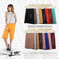 Celana wanita Celana Kulot Pendek Scuba Ready Size M L XL XXL XXXL