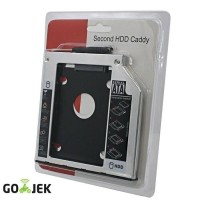HDD Caddy 9.5 mm /12.7 mm SATA Slot Hardisk Tambahan/second HD Laptop