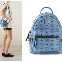 Tas Ransel MCM Original / MCM Bebe Boo Crossbody Blue Backpack