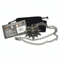 The Witcher 3 Wild Hunt Medallion Wolf Head Necklace Kalung kartu asli